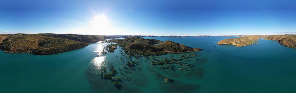 Aerial view of Buccaneer Archipelago
